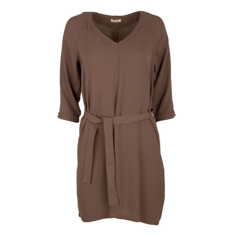 Robe marron manches 3/4 Femme AMERICAN VINTAGE marque pas cher prix dégriffés destockage