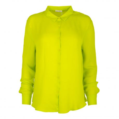 Chemise en soie verte Femme AMERICAN VINTAGE marque pas cher prix dégriffés destockage