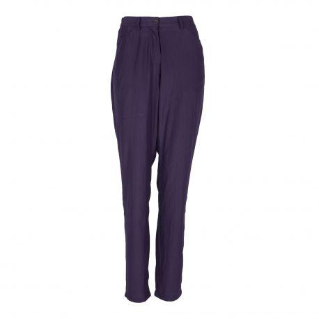 Pantalon large bleu foncé Femme AMERICAN VINTAGE marque pas cher prix dégriffés destockage