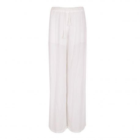 Pantalon large fluide blanc Femme AMERICAN VINTAGE marque pas cher prix dégriffés destockage