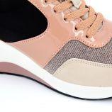 Baskets plateforme beige/rose Femme MARIAMARE marque pas cher prix dégriffés destockage