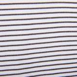 Tee shirt blanc rayé manches longues Homme VANS marque pas cher prix dégriffés destockage