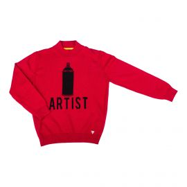 Pull rouge manches longues Enfant GUESS