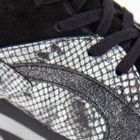 Baskets noires python Femme EMMA marque pas cher prix dégriffés destockage