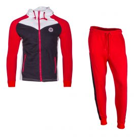 Ensemble jogging miguel red/white Homme BIAGGIO