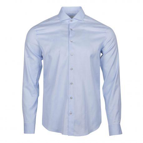 Chemise manches longues coton doux armuré cintrée Homme CALVIN KLEIN marque pas cher prix dégriffés destockage