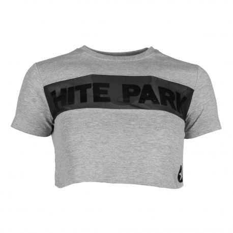 Tee-shirt gris mazeli lt grey Femme HITE marque pas cher prix dégriffés destockage