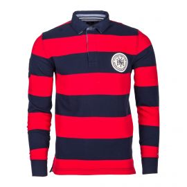 Polo à rayures manches longues Homme TOMMY HILFIGER
