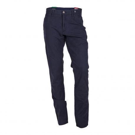 Pantalon bleu foncé chino Homme TOMMY HILFIGER marque pas cher prix dégriffés destockage