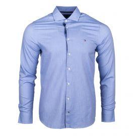 Chemise cintrée imprimée bleu manches longues Homme TOMMY HILFIGER marque pas cher prix dégriffés destockage