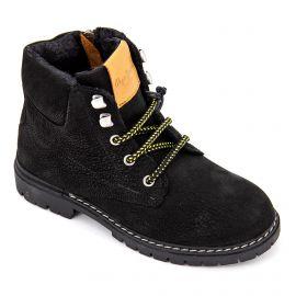 Boots à lacets en cuir noir Enfant PEPE JEANS marque pas cher prix dégriffés destockage