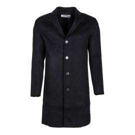 Manteau droit noir laine et cachemire Homme ZADIG & VOLTAIRE marque pas cher prix dégriffés destockage