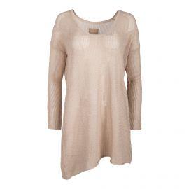 Robe en maille ajourée manches longues Femme ZADIG & VOLTAIRE marque pas cher prix dégriffés destockage
