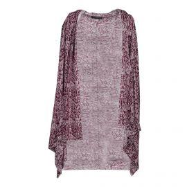 Gilet imprimé bordeaux manches longues en soie et cachemire Femme ZADIG & VOLTAIRE