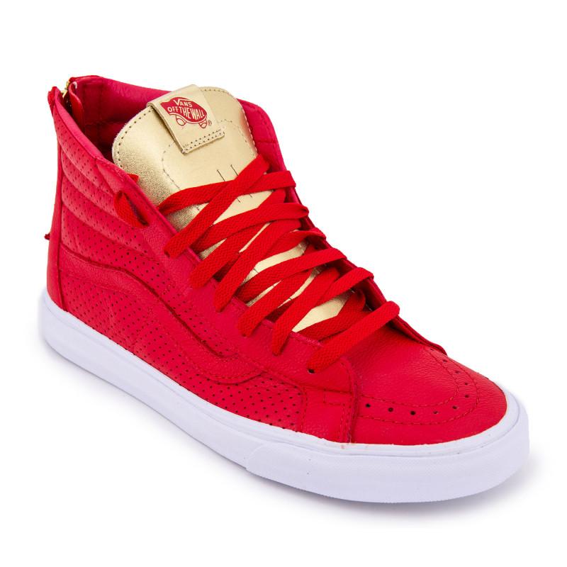 basket vans montante rouge