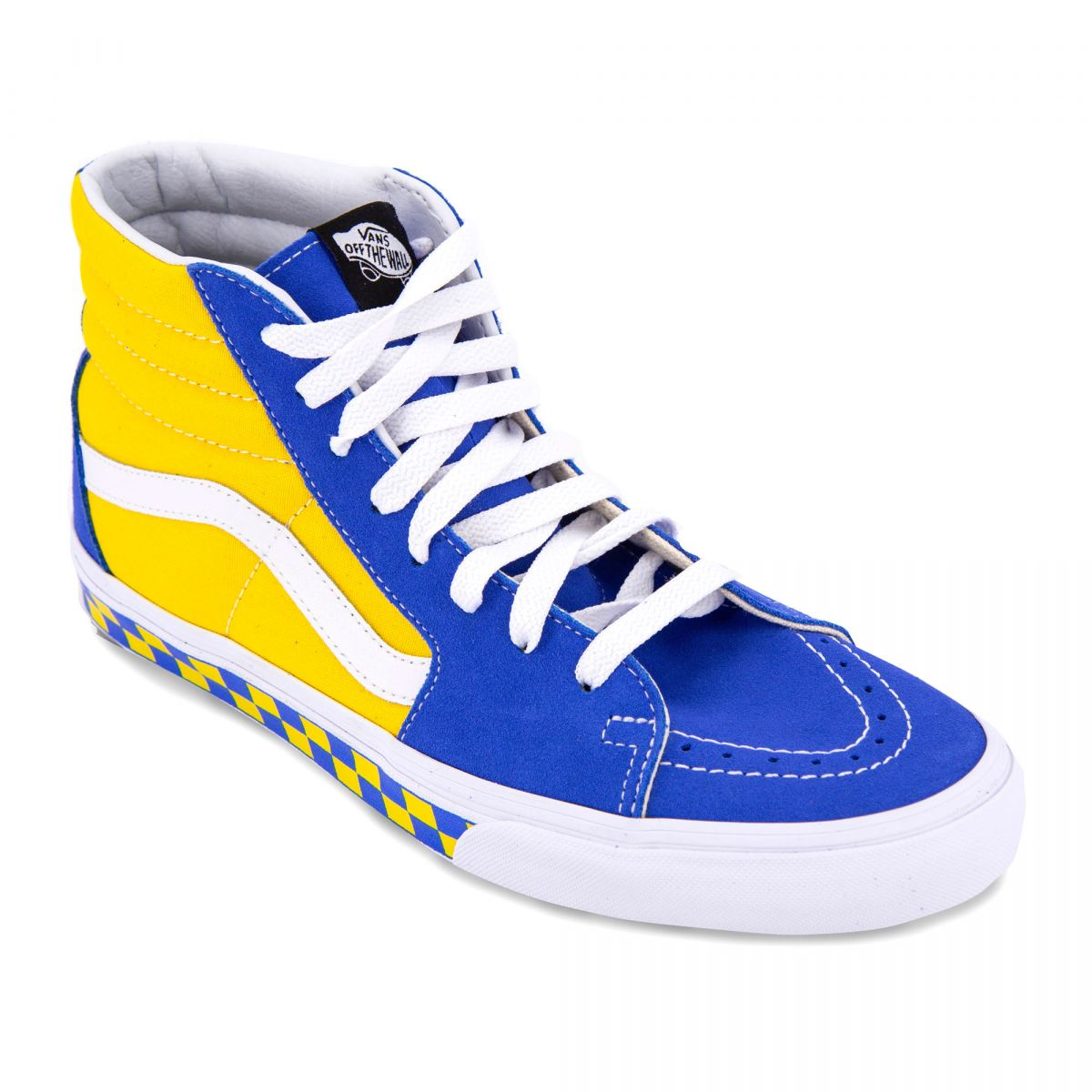 vans bleu et jaune