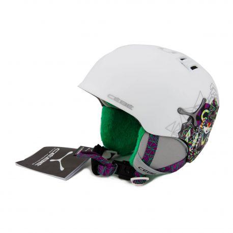 Casque ski blanc Enfant CEBE marque pas cher prix dégriffés destockage