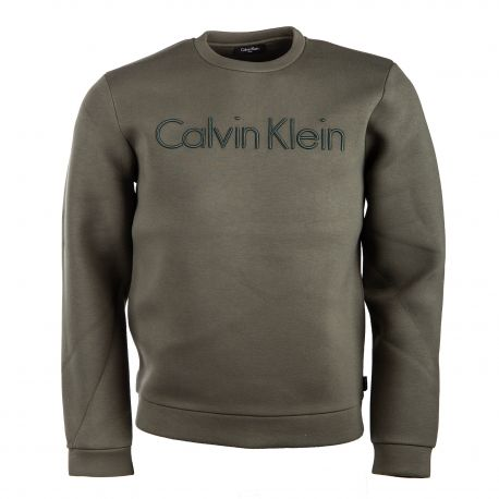 Sweat manches longues néoprène tag brodé Homme CALVIN KLEIN marque pas cher prix dégriffés destockage