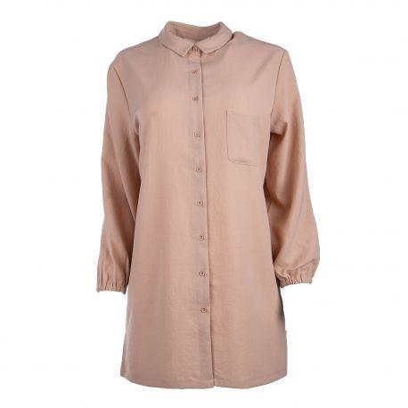 Chemise manches longues tunique poche plaquée Femme AMERICAN VINTAGE marque pas cher prix dégriffés destockage