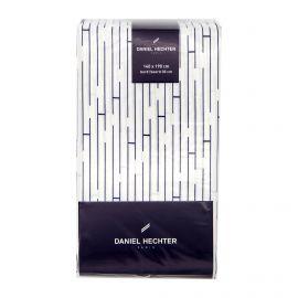 Drap housse 140x190cm blanc DANIEL HECHTER marque pas cher prix dégriffés destockage
