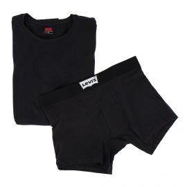 Ensemble tee shirt + boxer noir Homme LEVI'S marque pas cher prix dégriffés destockage