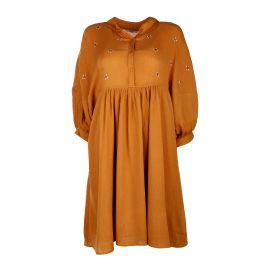 Robe strassée plissée boutonnée fluide Femme DDP marque pas cher prix dégriffés destockage