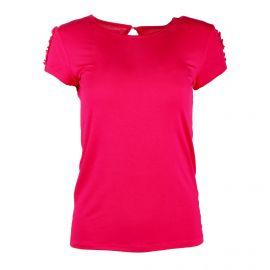 Tee shirt mc tcs 1831f volants épaule Femme BEST MOUNTAIN