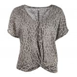 Tee shirt court mc tc s19102f léopard Femme BEST MOUNTAIN
