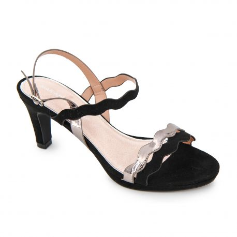 Sandales à talons brides bicolore suédé métallisée Femme MARIAMARE marque pas cher prix dégriffés destockage