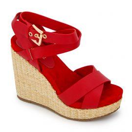 Sandales compensees roxan brina rojo 67461 Femme MARIAMARE