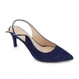 Escarpins bleu suede atlas Femme PIERRE CARDIN marque pas cher prix dégriffés destockage