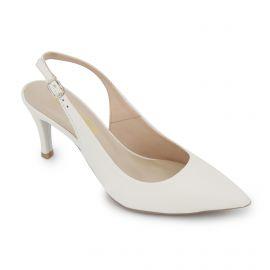 Escarpins blanc cuir atlas Femme PIERRE CARDIN