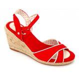 Sandales semi compensees pls904045 brides croisées Femme PEPE JEANS