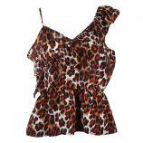 Haut One shoulder volant léopard Femme CARE OF YOU