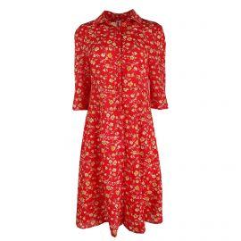 Robe manches 3/4 boutonnée imprimé fleurs Femme CARE OF YOU marque pas cher prix dégriffés destockage