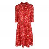 Robe manches 3/4 boutonnée imprimé fleurs Femme CARE OF YOU