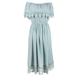 Robe froncée bi-matière dentelles Femme CARE OF YOU marque pas cher prix dégriffés destockage