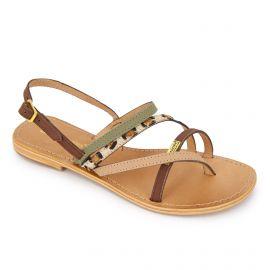 Sandales à brides multi-matières houka Femme LES TROPEZIENNES PAR M.BELARBI marque pas cher prix dégriffés destockage