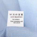 Chemise manches longues coupe ajustée vichy parme Homme SINEQUANONE marque pas cher prix dégriffés destockage