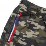 Short de bain zira imprimé militaire poches zippées tricolores Homme BLAGGIO marque pas cher prix dégriffés destockage