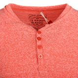 Tee shirt manches courtes strech theo côtelé jeu de col tunisien boutonné Homme BLAGGIO marque pas cher prix dégriffés destoc...