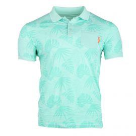 Polo manches courtes pajay col poche contrasté imprimé tropical Homme BLAGGIO marque pas cher prix dégriffés destockage