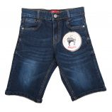 Bermuda jeans logo poche embossé Enfant AEROPILOTE
