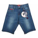 Bermuda jeans logo poche brodé Enfant AEROPILOTE