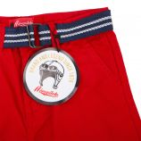 Bermuda toile chino ceinture amovible bicolore Enfant AEROPILOTE marque pas cher prix dégriffés destockage