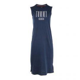 Robe sans manche coton léger logo Femme TOMMY HILFIGER marque pas cher prix dégriffés destockage