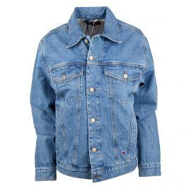 Veste en jean écusson tag brodé sailing gear Femme TOMMY HILFIGER marque pas cher prix dégriffés destockage