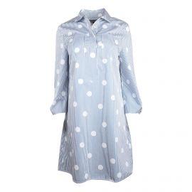 Robe chemise manches longues rayures tennis pois poches plaquée Femme TOMMY HILFIGER marque pas cher prix dégriffés destockage