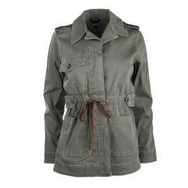 Veste saharienne coton strech à galons Femme TOMMY HILFIGER marque pas cher prix dégriffés destockage