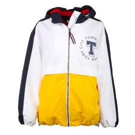 Veste coupe vent colorblock zippée capuche Femme TOMMY HILFIGER marque pas cher prix dégriffés destockage
